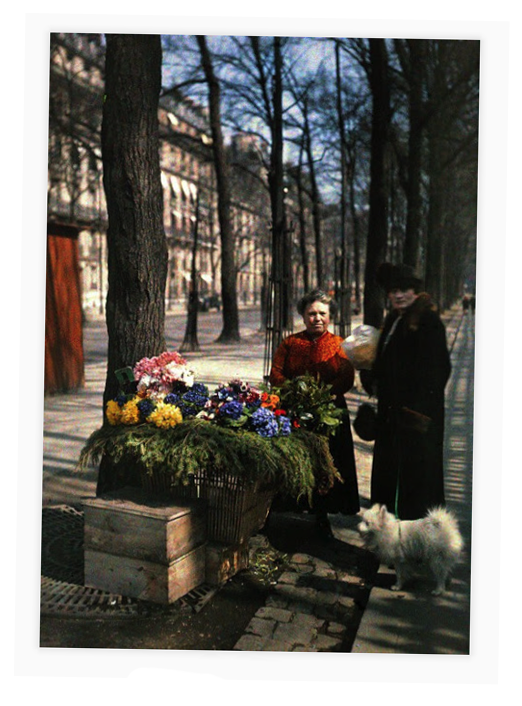 autochrome, Paris women, 1919