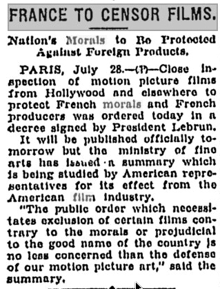 French film censorship