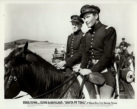 Erroly Flynn and Ronald Regan, The Santa Fe Trail