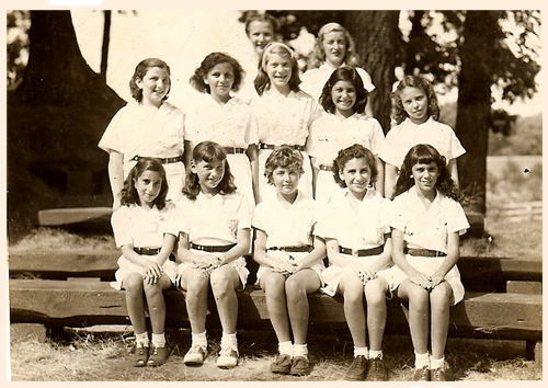 campers at girls' summer camp c. 1929