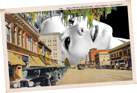 Hollywood Boulevard postcard