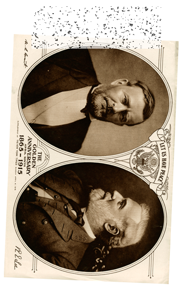 Ulysses Grant and Robert E. Lee postcard