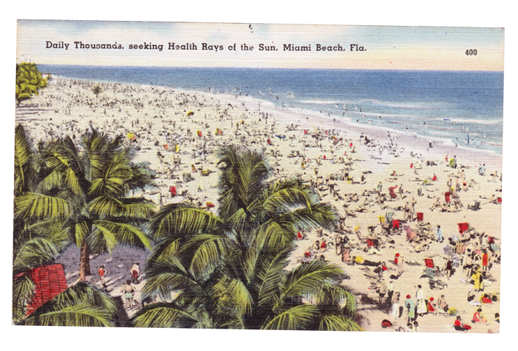 postcard of Miami Beach 1950s