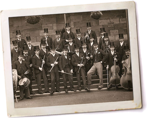 Band at Scarborough Spa c. 1895