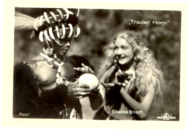 Trader Horn publicity shot with Edwina Booth